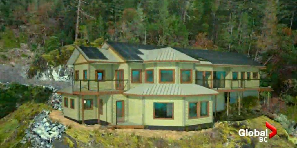 """Harmless Home"" Sooke, Victoria, Just BioFiber Hemp Building Blocks"